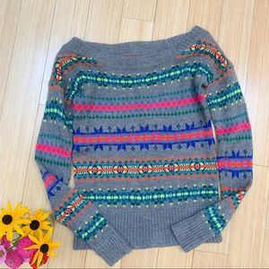 AEO American Eagle fair isle sweater, S.
